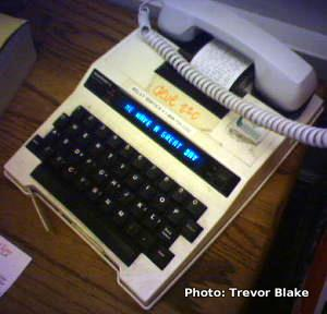 TTY telephone. Photo by Trevor Blake from flickr.