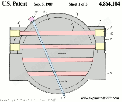 Components of a typical halogen cooking element from US patent 4,864,104.