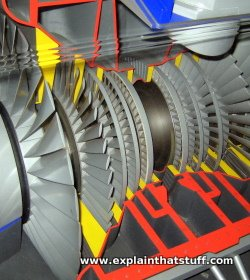 Model of a steam turbine at Think Tank science museum, Birmingham, England.