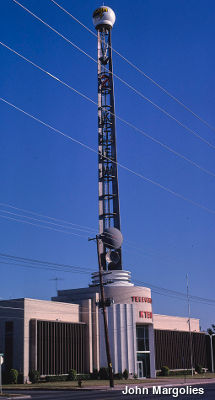 TV antenna on the KJRH/KTEW Studios, South Peoria Avenue, Tulsa, Oklahoma by John Margolies