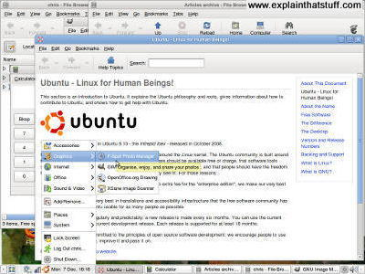 Ubuntu running with the Gnome desktop.