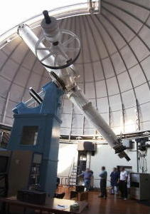The 26-inch refractor telescope at the U.S. Naval Observatory in Washington, D.C.