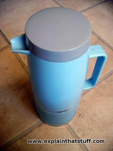 Blue Thermos vacuum flask