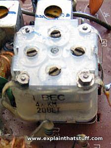 Variable capacitor in a radio tuning control