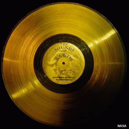Sounds of Earth gold LP record carried into space by Voyager space craft