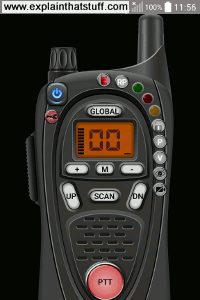 Screenshot of the Online Walkie Talkie Pro from NAVA apps for Android.