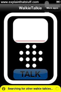 Screenshot of the Walkie Talkie Standard iPhone app by Indigo Penguin.