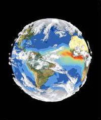 SeaWiFS satellite image of Earth's climate from NASA GRIN