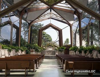 Wayfarers Chapel in Rancho Palos Verdes, California by Carol Highsmith