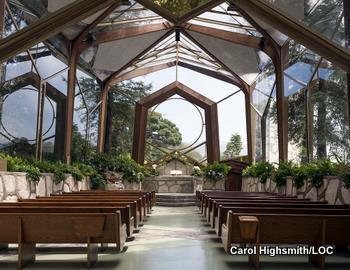 Wayfarers Chapel in Rancho Palos Verdes, California by Carol Highsmith