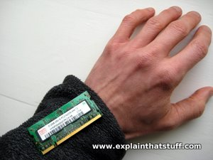 Conceptual photo of wearable electronic circuit on a sweater.