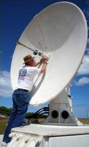 Weather balloon radar tracking dish