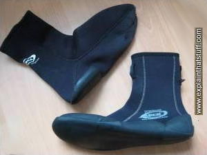 Wetsuit boots and fin socks