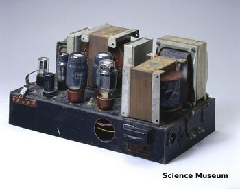 Valve amplifier from 1949, home built to a design by D T N Williamson.