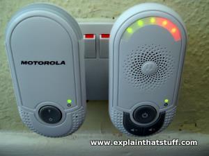 A Motorola wireless intercom baby monitor.