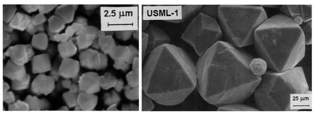 Examples of zeolite crystals.