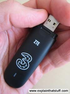 HSDPA mobile broadband modem or dongle made by ZTE